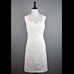 White House Black Market Ivory Sheath Dress